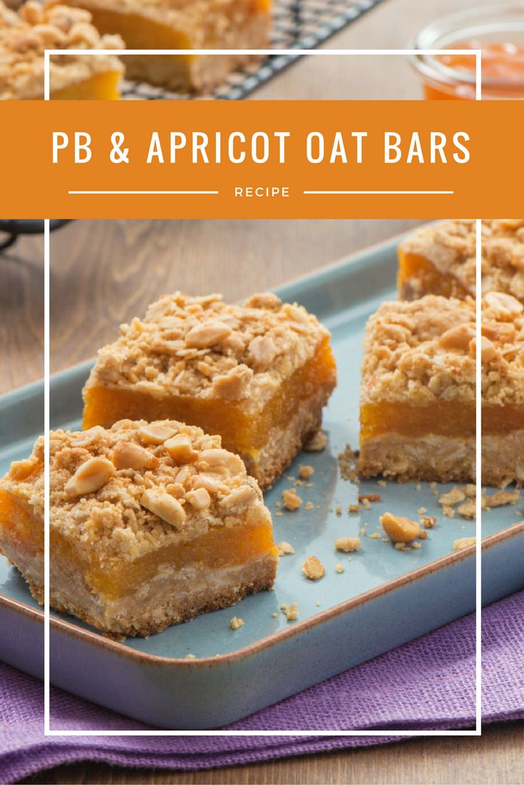 Peanut Butter + Apricot Oatmeal Crumble Bars | Call them a snack or a ...