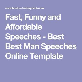 how to write a best man speech template