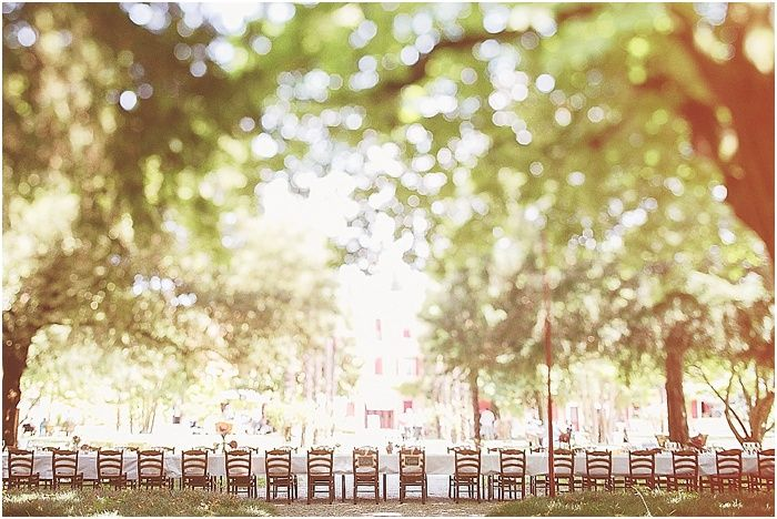 long table rustic wedding