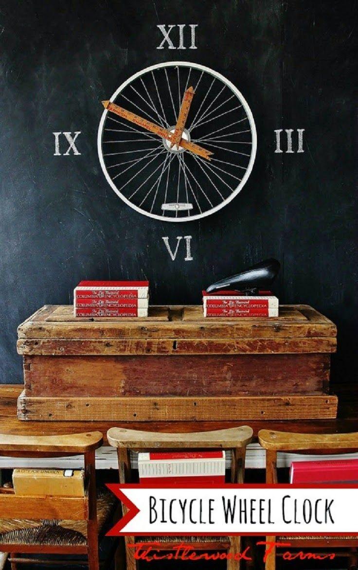 Reciclar ruedas de bicicleta