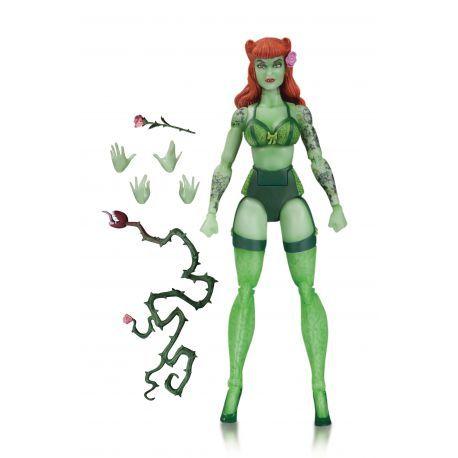 Figurine Poison Ivy de la gamme DC Bombshells articulée taille env. 17 cm, en emballage blister.