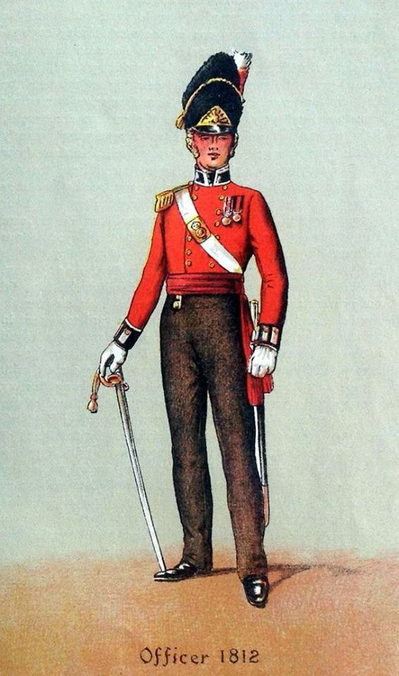 British; The Royal Regiment of Welch Fuzileers, Officer, 1812