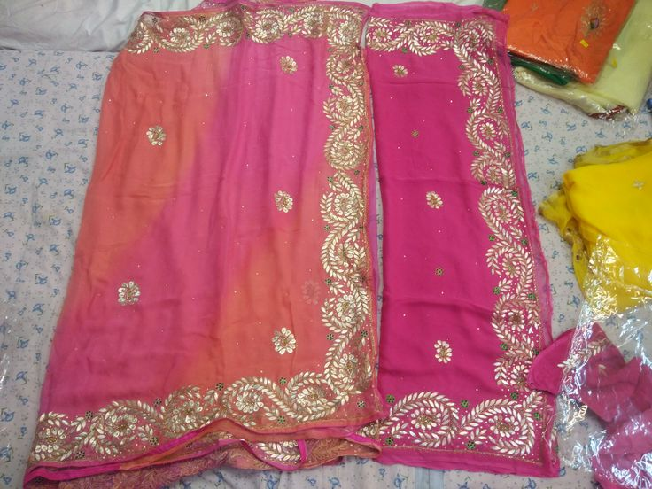 Beautiful Chiffon saree hand work