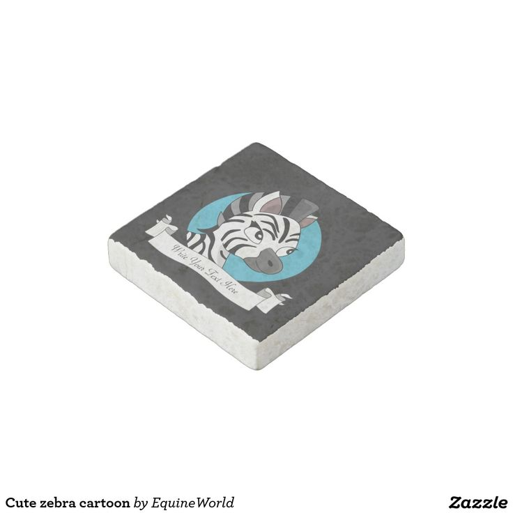 Cute zebra cartoon stone magnet
