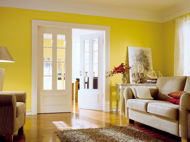 Glazed Double Doors - A door is not only part of your interior. It also contributes significantly to the atmosphere in the living room.
