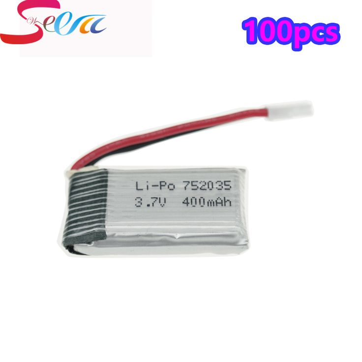 100PCS 3.7V 400mAh Lipo Battery For Eachine H99W JJRC H31 H6C H98 Hubsan X4 H107 DM003 Spare Parts Lipo Battery Drone RC 752035     Tag a friend who would love this!     FREE Shipping Worldwide     Buy one here---> https://shoppingafter.com/products/100pcs-3-7v-400mah-lipo-battery-for-eachine-h99w-jjrc-h31-h6c-h98-hubsan-x4-h107-dm003-spare-parts-lipo-battery-drone-rc-752035/
