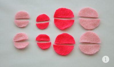 DIY: Double Color Felt Rose   Agus Yornet Blog