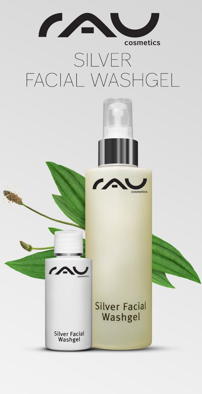 RAU Silver Facial Washgel 200 ml – Gezichtsreiniging met microzilver