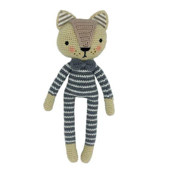 Patrón gratis de este elegante gatito a crochet | Amigurumis ...