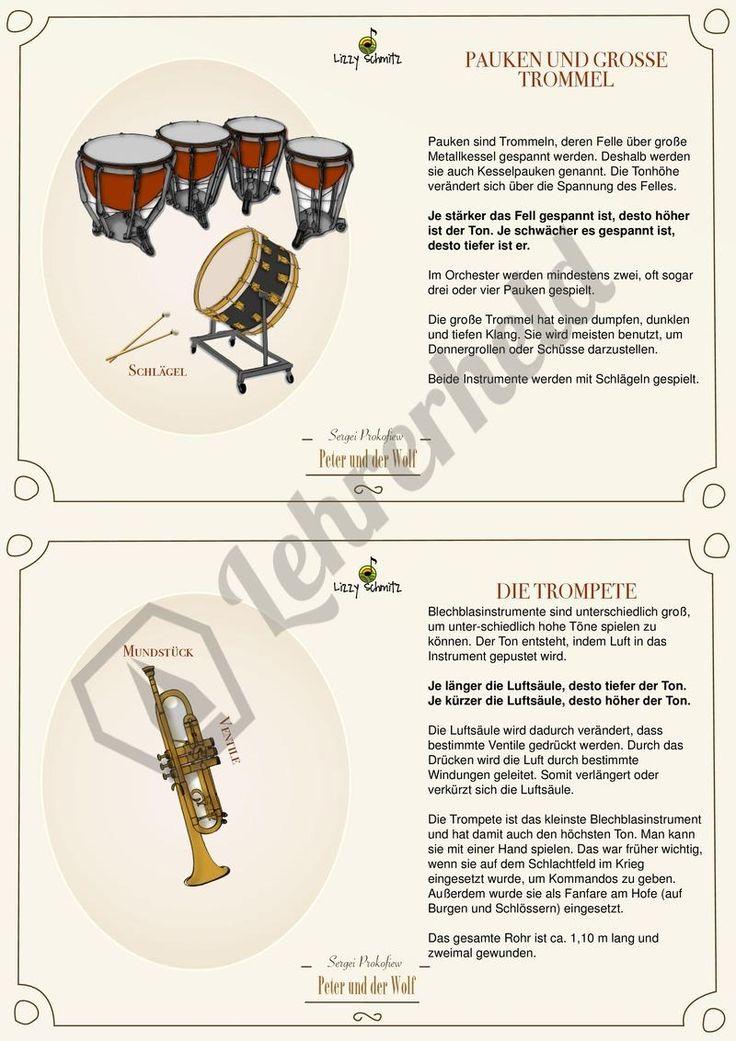 Peter und der Wolf - Hörkartei! Extrem hochwertig vorbereitete Karteien für #Musikunterricht.  #Grundschule #Musik