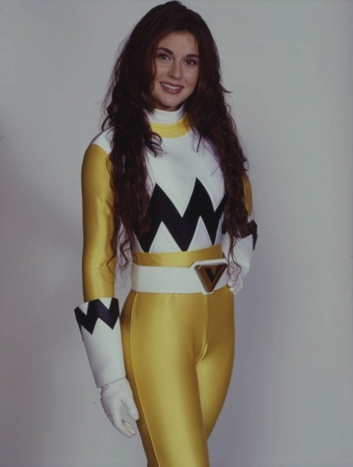 """Cerina Vincent as Maya, the Yellow Ranger on """"Power Rangers Lost Galaxy."""""""