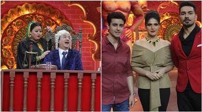 PHOTOS: Aksar 2 team Zareen Khan and Gautam Rode join Bharti Singh and Anu Malik on Comedy Dangal https://goo.gl/Kq4iVW