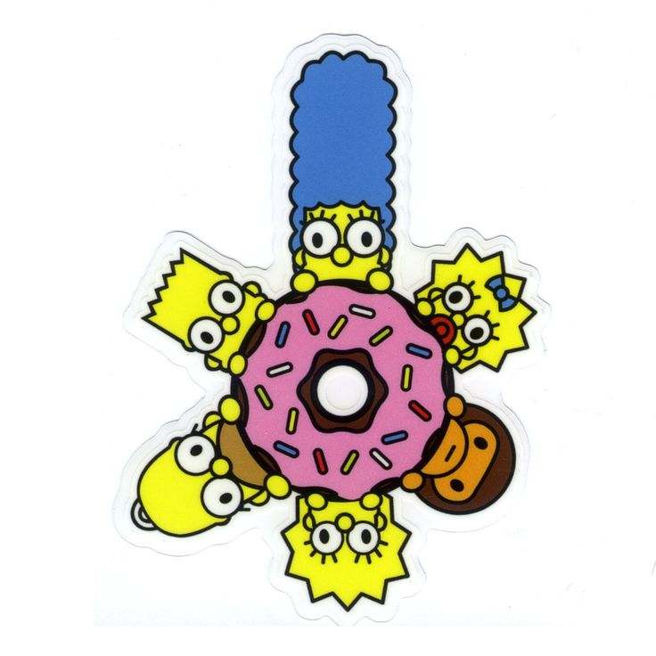 1226 baby milo x the simpsons family donut height 8 cm decal