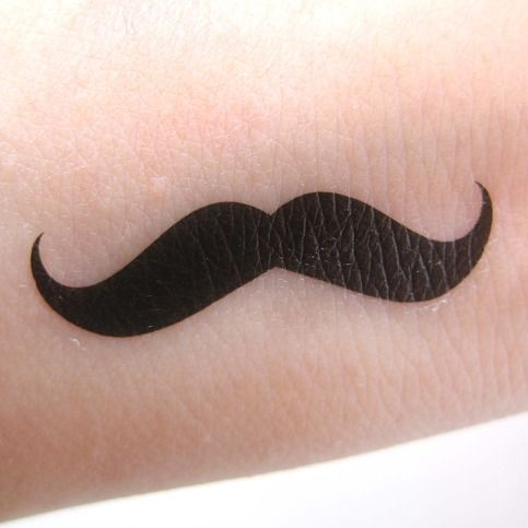 $2.99 Moustache Mustache Temporary Transfer Tattoo Set for kate