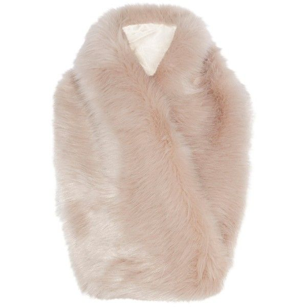 Coast Riley Faux Fur Scarf, Blush (66 AUD) ❤ liked on Polyvore featuring accessories, scarves, fake fur shawl, faux-fur scarves, fake fur scarves, faux fur scarves and faux fur shawl