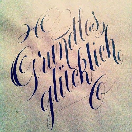 Grundlos glücklich #calligraphy  #type