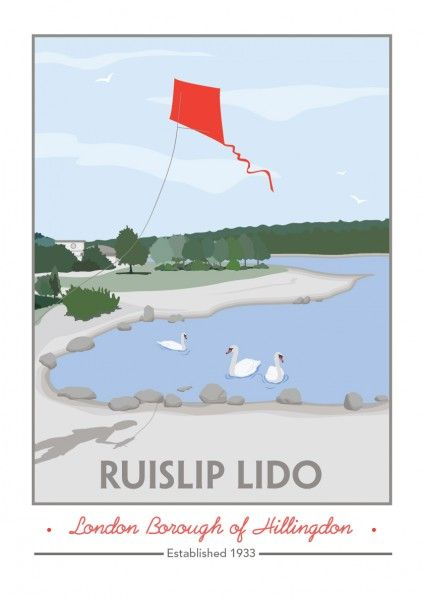 Ruislip Lido, London Borough of Hillingdon - Giclee print by Tabitha Mary UK #TABITHAMARY