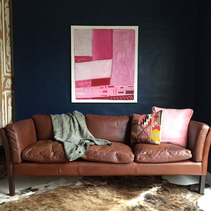 1960s Danish mid-century leather sofa with gorgeous patina