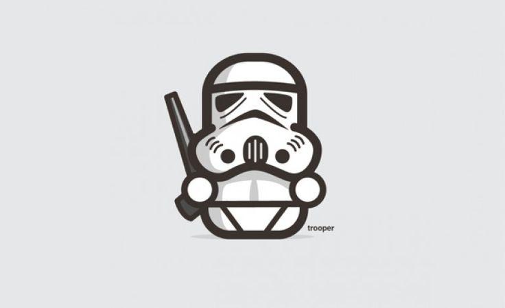 Personagens da saga Star Wars em miniaturas fofinhas e minimalistas