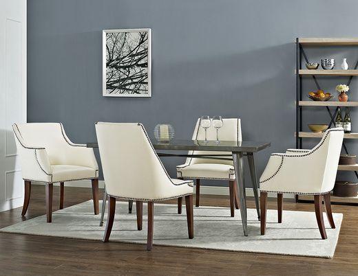 TOV Furniture Bart Cream Arm Chair