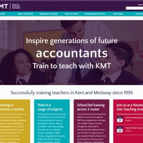 What did you want to do after you left school? Our animated headline for KMTs teacher training website encourages new teachers to inspire today's children.