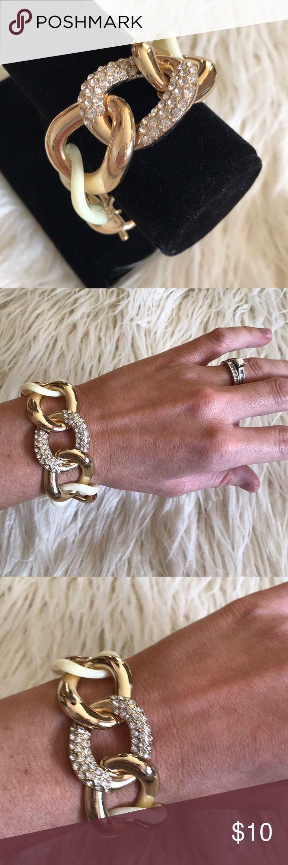 Ivory Rhinestone Chain Link Bracelet Ivory rhinestone chain link bracelet Jewelry Bracelets