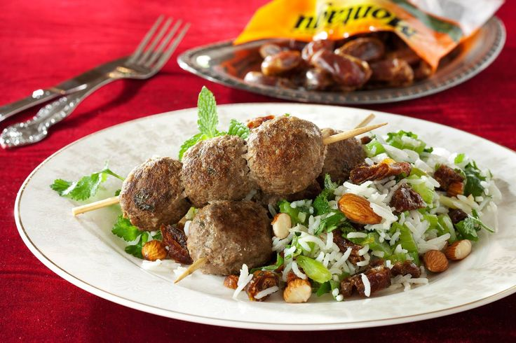 Spicy Meatballs with fruity Basmati Rice recipe. Click on the link for more recipes: http://tinyurl.com/Montagu-Recipes