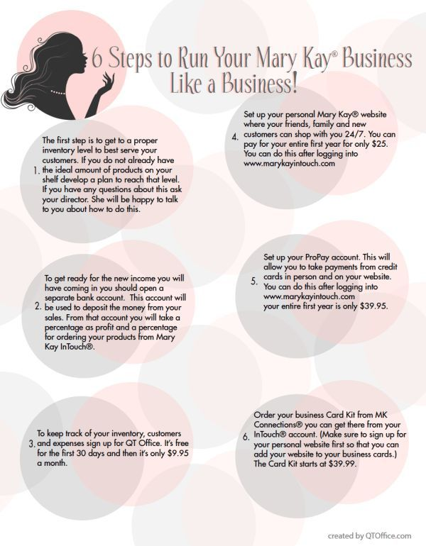 Mary Kay Business Plan Key Steps To Running Your Mary