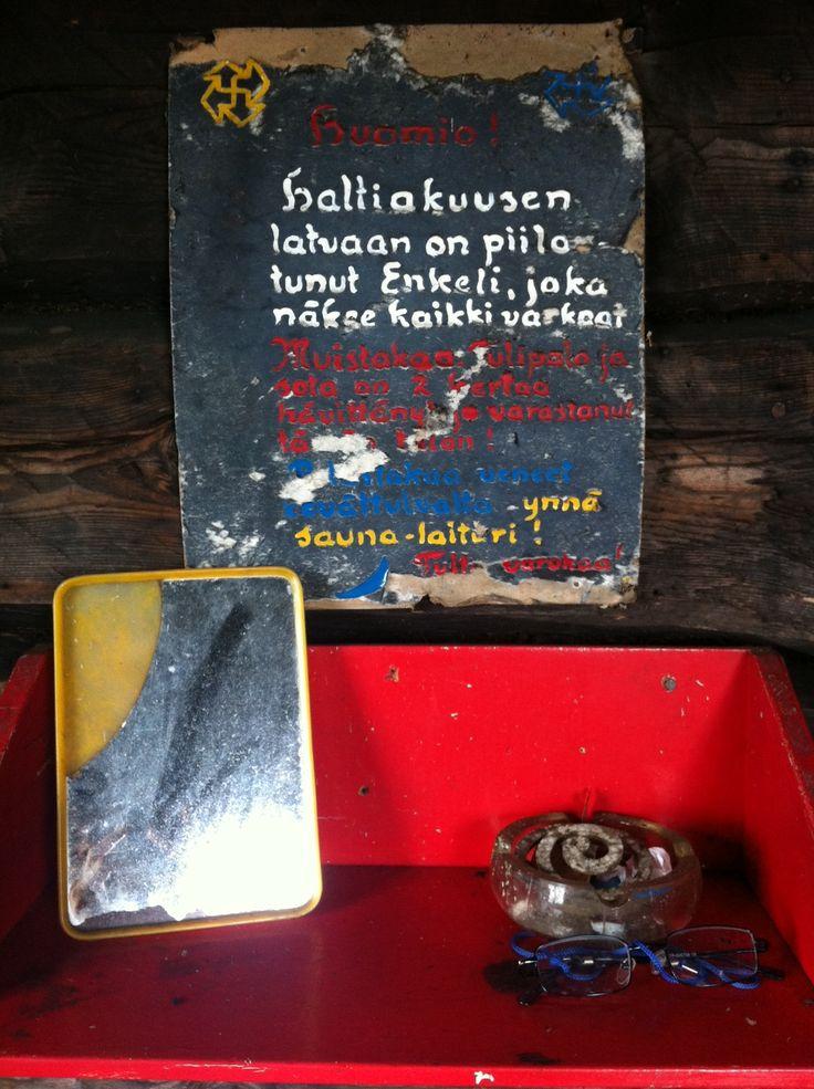 In the sauna of Ilmari Kianto, a Finnish author. 1910.