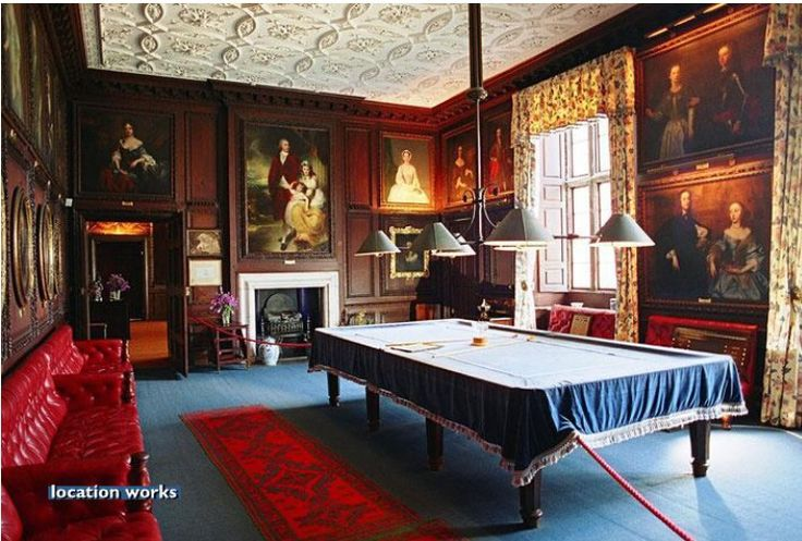 Billiards Room. Burghley House, Lincolnshire, England, UK