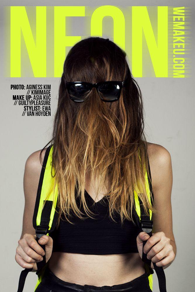 wemakeu.com // neon photoshoot poster // 2013