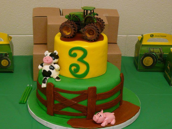 John Deere Tractor Cupcake Cake John Deere Cupcakes Best Birthday