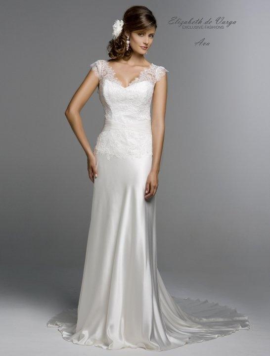 Elizabeth de varga 39 ava 39 bias cut silk charmeuse silk for Silk charmeuse wedding dress