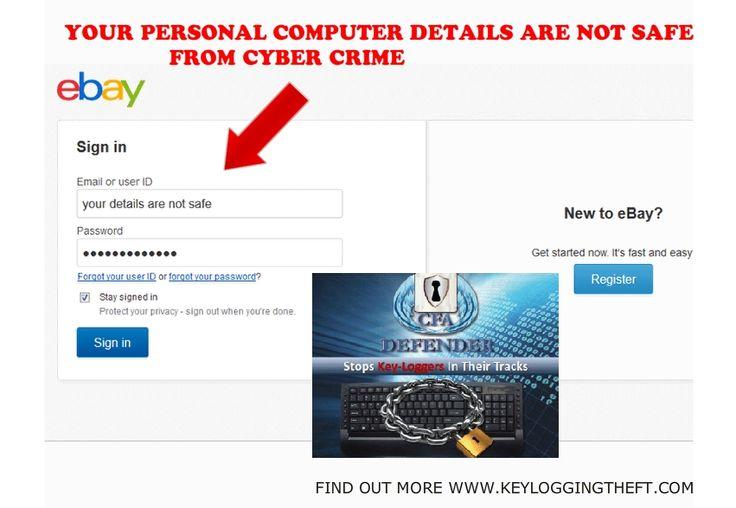 using ebay get keylogging theft security