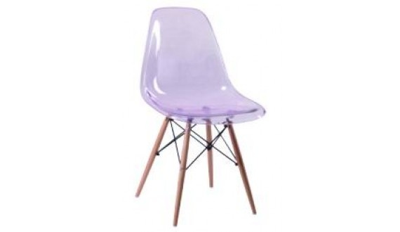 Fusion Wood Chair - 50*46.5*84 cm Clear & Wood