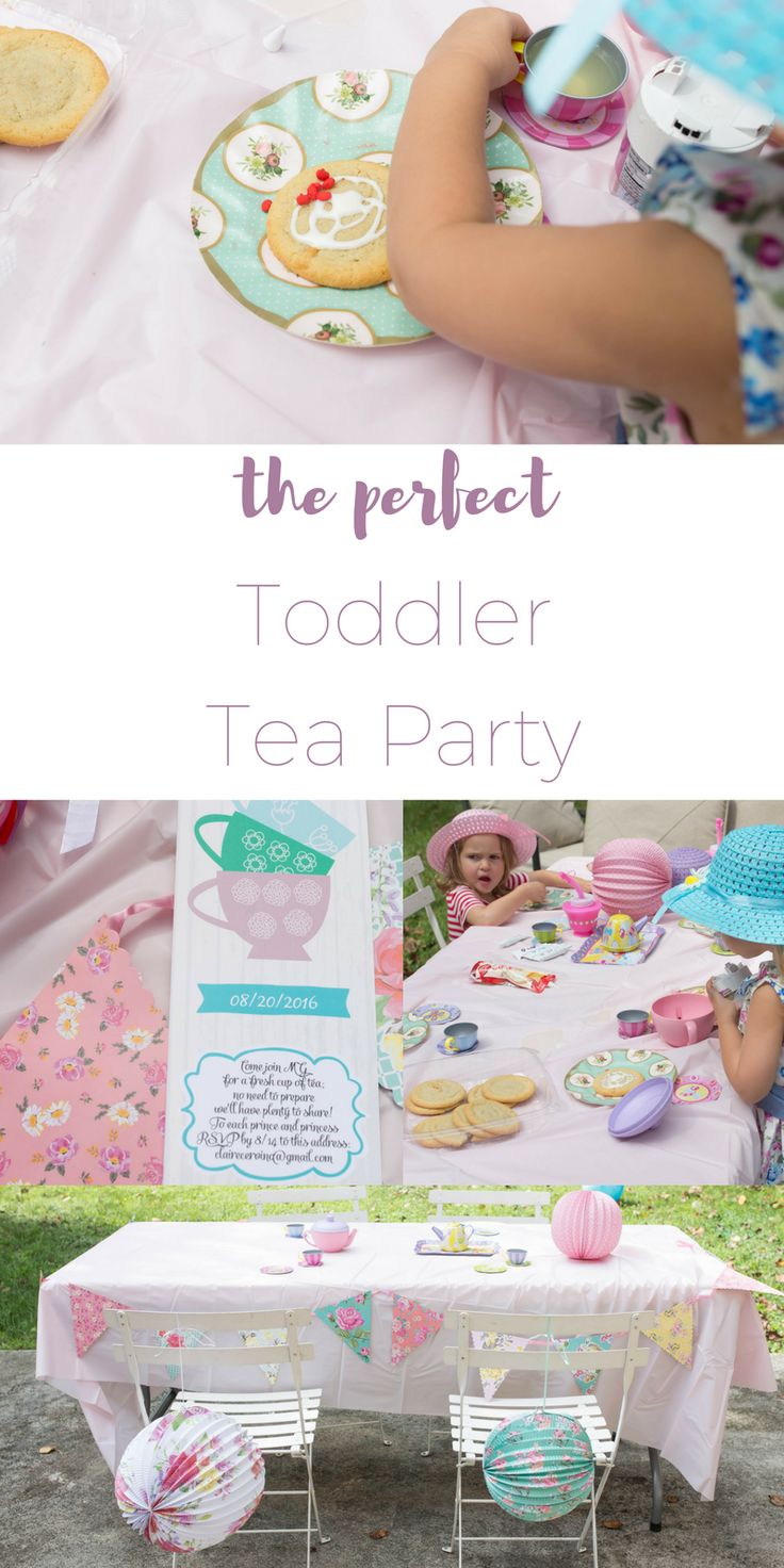 How to throw the perfect adorable toddler tea party for little girls and boys…