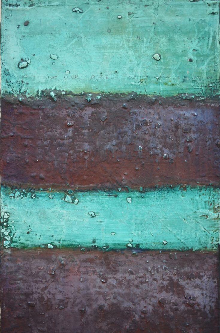 white green purple, 140 x 33 x 5 cm, Mischtechnik auf Leinwand