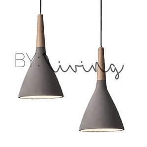 Modern-Contemporary-Minimal-Wood-Timber-Concrete-cement-pendant-light