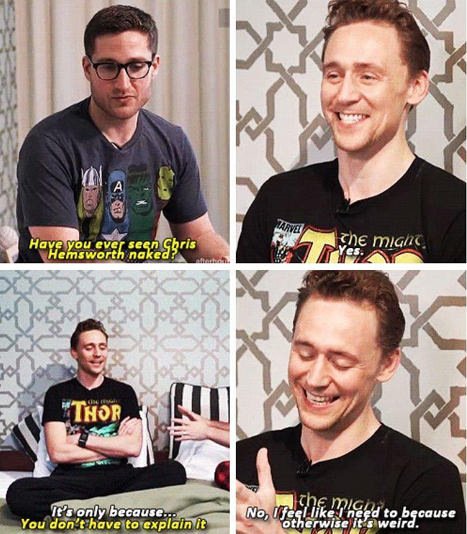 Tom Hiddleston haha