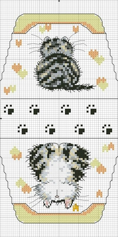 Cross-stitch Kitty Purse  <3 ... no color chart available, just use pattern chart as your guide