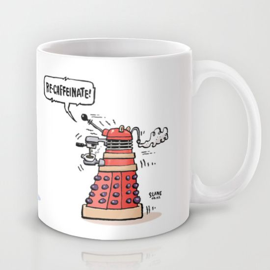 Buy RE-CAFFEINATE! by Slane Cartoons as a high quality Mug. Worldwide shipping available at Society6.com. Just one of millions of products available.