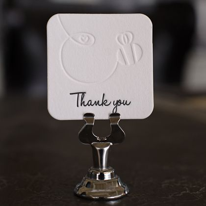 10 best custom die cut business cards images on pinterest bridal such a cute way to say thank you with the custom die cut reheart Image collections