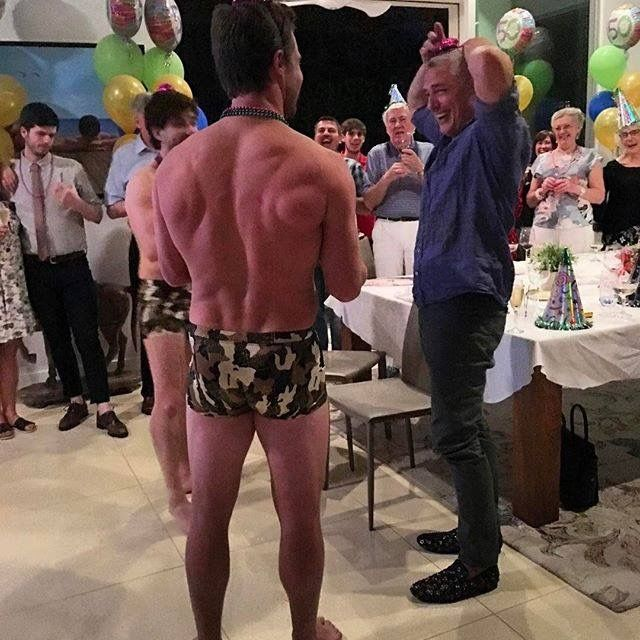 Here's the thing... John Barrowman is only turning 50 once... Stephen Amell, shirtless, boxer briefs