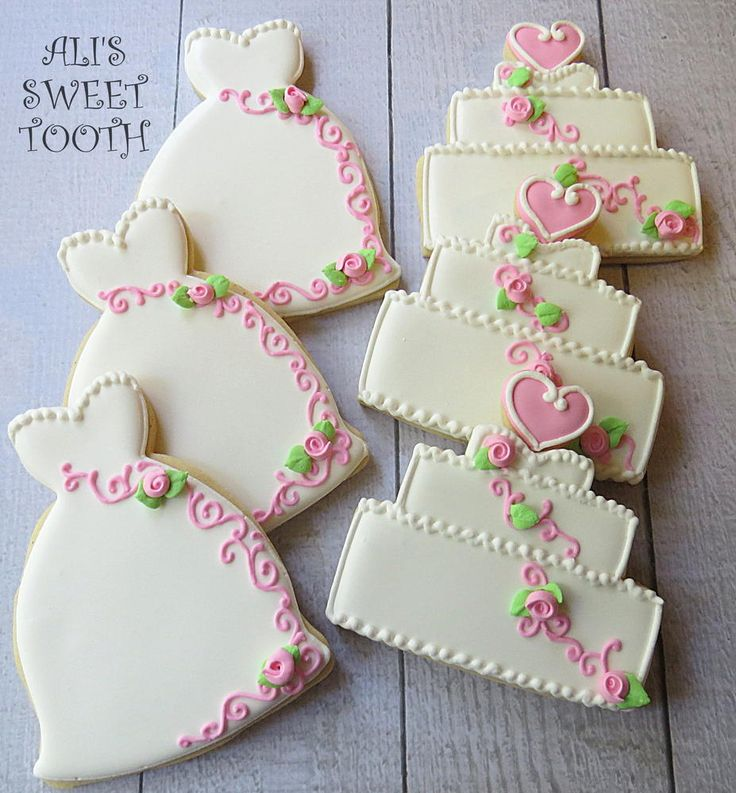 Ali's Sweet Tooth Shabby Chic Wedding Cookies