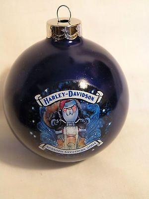Harley-Davidson Collectibles | COLLECTABLE 2004 HARLEY DAVIDSON Glass CHRISTMAS ORNAMENT Santa ...