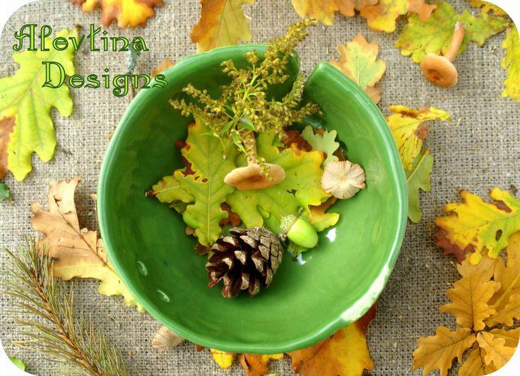 #my_ceramics #yarn_bowl #leaf_texture_yarnbowl