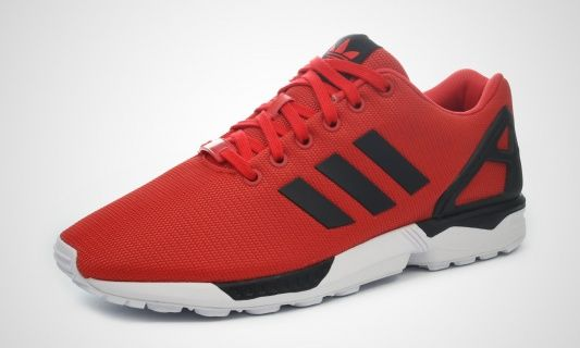 adidas ZX Flux Red Black White Detailed Pictures