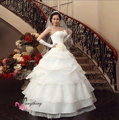 【楽天市場】【ウェディングドレス 二次会】刺繍 フリル ドレス 白 ドレス☆格安