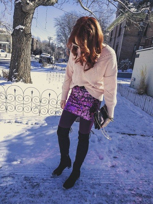 Sparkle & Snow Look! #cutewinteroutfits #winteroutfits #casuallook #whatiwore #outfitoftheday #ootd #ootd #lookbook #whatiworetoday