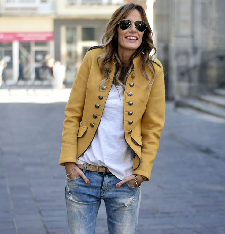 casual hair style best 25 yellow jacket ideas on colored 4148 | 4443539aa75d64f4148a89cd1e5f9b25